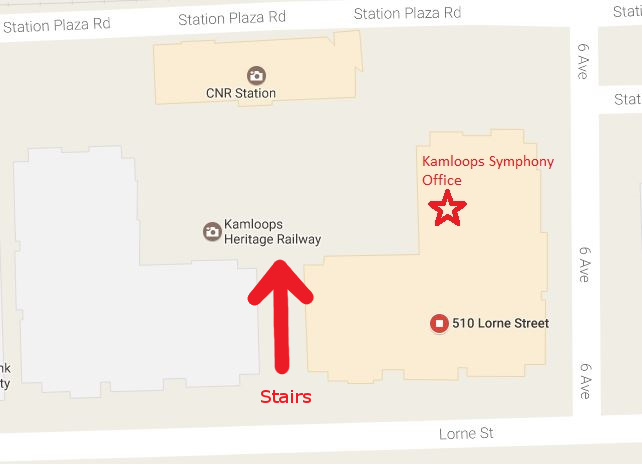 screenshot of Google map showing the location of the KSO office