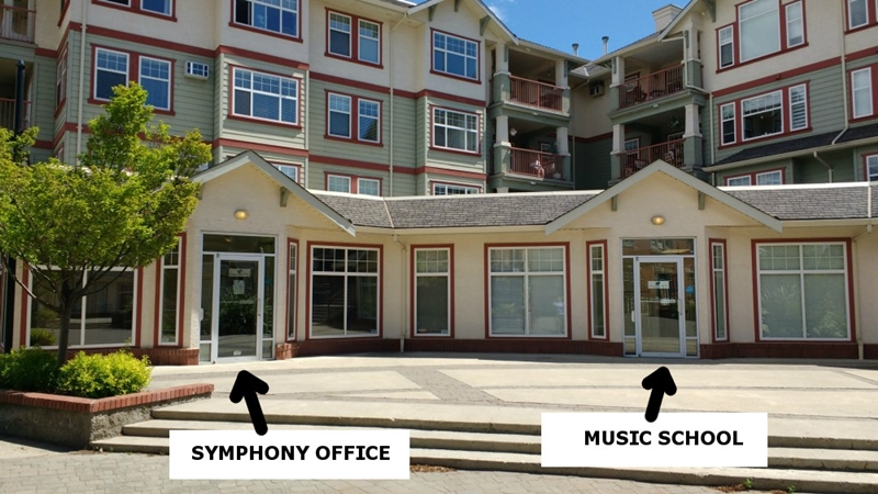 Kamloops Symphony office and Kamloops Symphony Music School